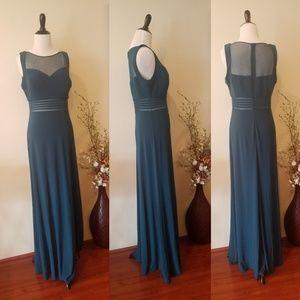 Night Way Long Green Dress Size 10